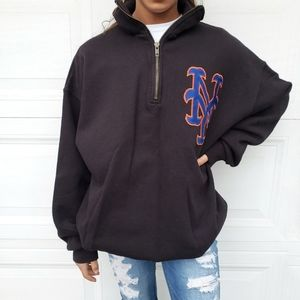 New York Mets 1/4 zip pullover sweater sweatshirt